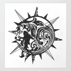Tattoo 3 Art Print