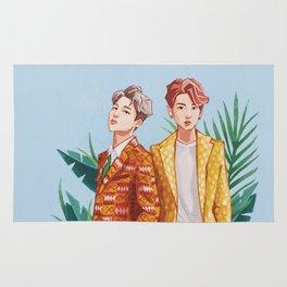 BTS Jungkook and Jimin Rug