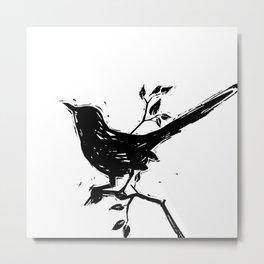Black Bird by Kathy Morton Stanion Metal Print