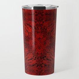 Motion Mandala Deep Red Travel Mug