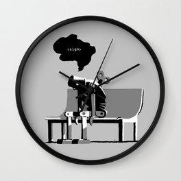 Robot Blues Wall Clock