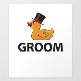 Groom Rubberduck Gift Art Print
