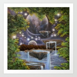Waters of Creation Art Print