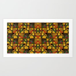 """Retro Gold Art Deco Pattern"" Art Print"