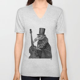 Vulture Double Bass by Pia Tham Unisex V-Neck