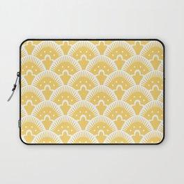 Fan Pattern 331 Yellow Laptop Sleeve