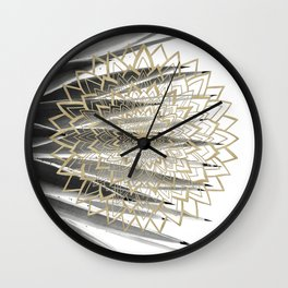Gold Mandala on Agave #1 #tropical #decor #art #society6 Wall Clock