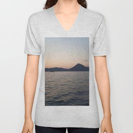 In the middle of the sea I  Sunset at sea Unisex V-Neck