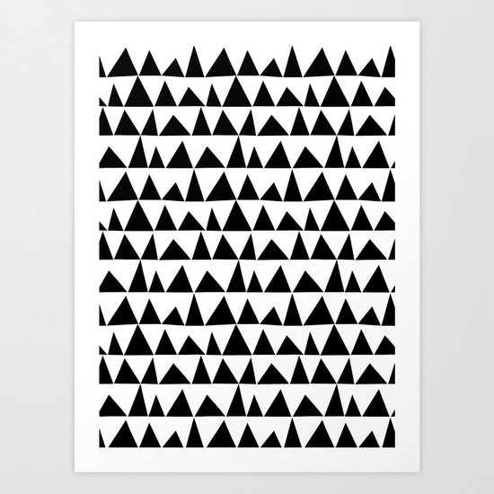 Playful triangles Art Print