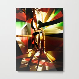 Stand the Light Metal Print