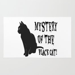 Mystery Of The Black Cat! Rug