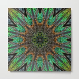 Feather Kaleidoscope Metal Print