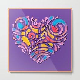 Peace and Love Heart #1 Metal Print