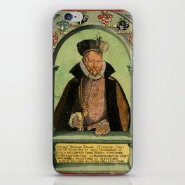 Epistolarvm Astronomicarvm Libri, 1596 - Portrait of Tycho Brahe iPhone Skin
