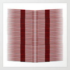 Black and red lines background Art Print