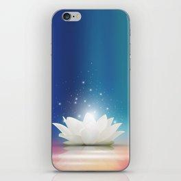 Elegant Gentle  White  Lotus / Lily flower iPhone Skin