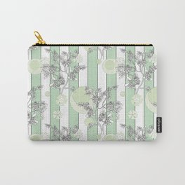 Mint color striped pattern . Carry-All Pouch