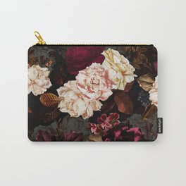 Vintage & Shabby Chic - Midnight Rose and Peony Garden Carry-All Pouch