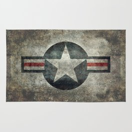 US Air force style insignia V2 Rug