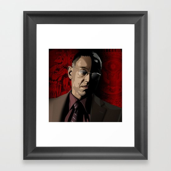 Breaking Bad Illustrated - Gustavo Fring Framed Art Print