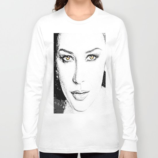 Face- Catherine Zeta Jones Long Sleeve T-shirt