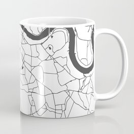 London White on Gray Street Map Coffee Mug