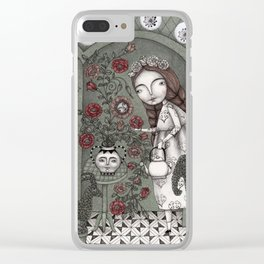 When it Snows Outside (My Secret Garden) Clear iPhone Case