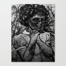 Shirley Temple zombie Canvas Print