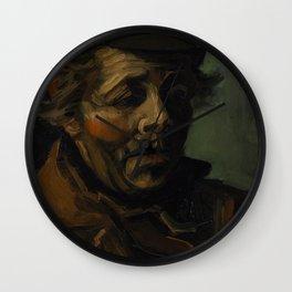 Vincent Van Gogh Head Of A Peasant Wall Clock