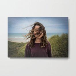 Wind girl Metal Print