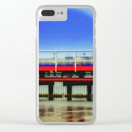 Blue Moon Clear iPhone Case