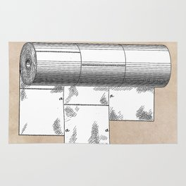 patent art Wheeler Wrapping of toilet paper 1894 Rug