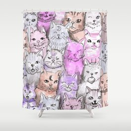 pastel cats Shower Curtain