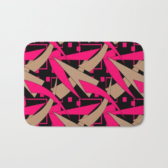 Creative abstract pattern . Geometric shapes .4 Bath Mat