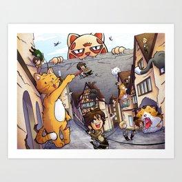 Attack on Kitten - Attack on Titan Kunstdrucke