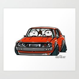 Crazy Car Art 0147 Art Print
