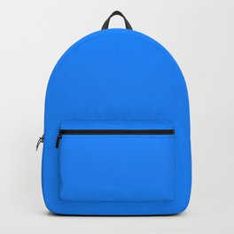 Solid Bright Dodger Blue Color Backpack