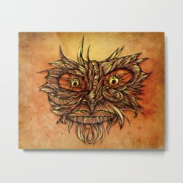 Face Flow Color Metal Print