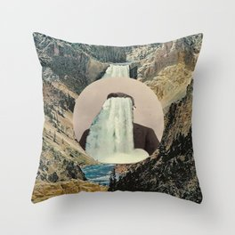 The Flow Of Man Throw Pillow