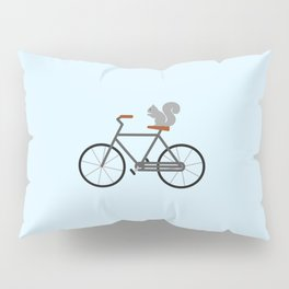 Squirrel Riding Bike Pillow Sham