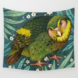 Kakapo Wall Tapestry