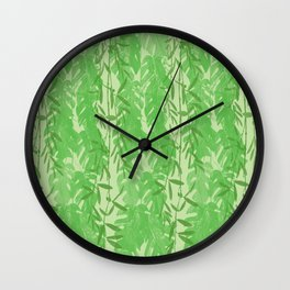Leaves Pattern QQ Wall Clock