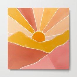 Wonderful Sunset Boho Metal Print