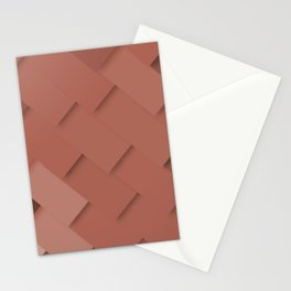 Terracotta pattern, layered like shingles, tiles or paint swatches you just cannot choose from! Stationery Cards