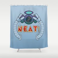 bender Shower Curtains featuring Neat! by Kramcox