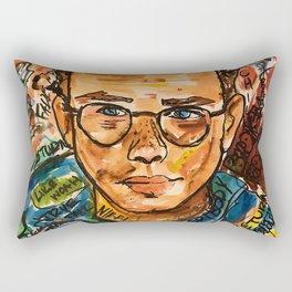 rapper,colourful,colorful,poster,wall art,fan art,music,hiphop,rap,logicc,lyric Rectangular Pillow