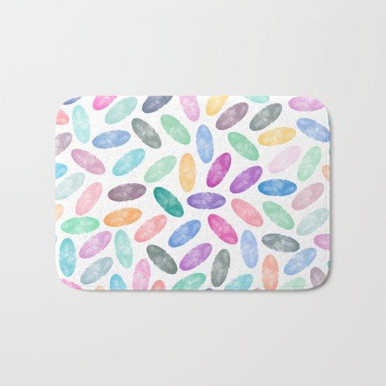 Watercolor Lovely Pattern VII Bath Mat