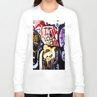 graffiti Long Sleeve T-shirts featuring Graffiti by Ian Bevington