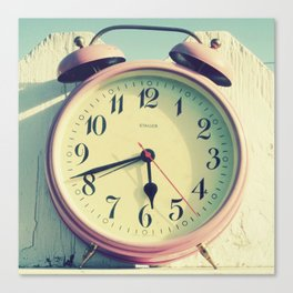 Pink Clock Canvas Print