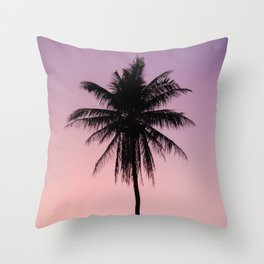 Summer Palms Throw Pillow